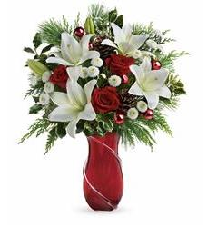 Teleflora's Shimmering Pines Bouquet (T16V220A)