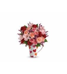 Teleflora's Lovely Hearts Bouquet (T16V300A)