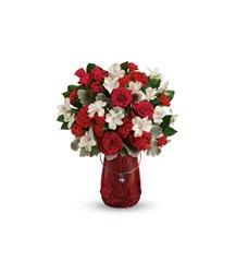 Teleflora's Red Haute Bouquet (T18V100A)