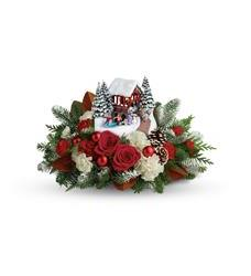 Christmas Table Arrangements Flowers.Thomas Kinkade S Snowfall Dreams Bouquet