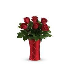 Teleflora's Crimson Luxury Bouquet (T19V110A)