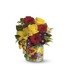 Teleflora's Birthday Ribbon Bouquet (T22-3A)