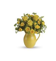 Teleflora's Sunny Day Pitcher of Roses (T71-1A)