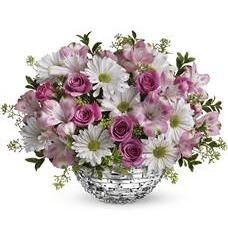 Teleflora's Facets Of Spring Centerpiece (TEV21-5A)