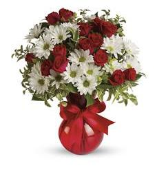 Red White And You Bouquet by Teleflora (TEV23-2A)