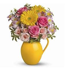Teleflora's Sunny Day Pitcher Of Charm (TEV27-1A)