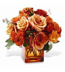 Teleflora's Orange Rose Mosaic