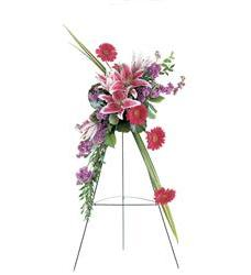 Stargazer Lily and Gerbera Spray (TF189-6)
