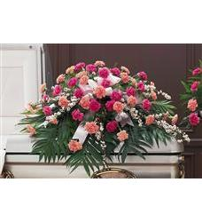 Delicate Pink Casket Spray (TF198-4)