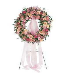 Respectful Pink Wreath (TF199-3)