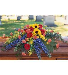 Vibrant Summer Casket Spray  (TF202-1)