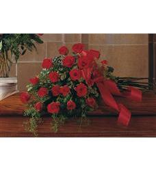 Red Rose Tribute Casket Spray  (TF208-2)