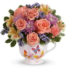 Teleflora's Butterfly Sunrise Bouquet (T16M300A)