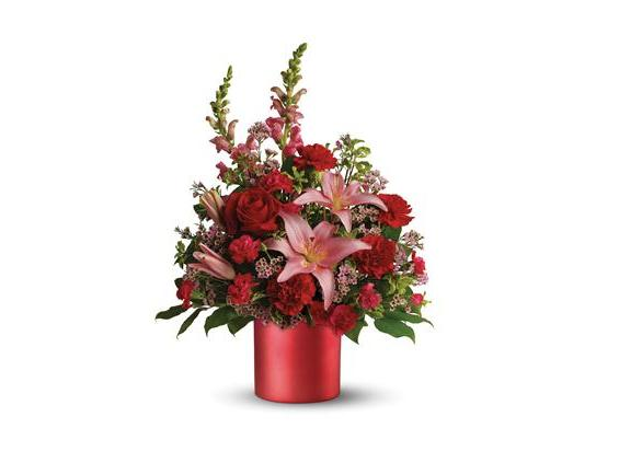 Teleflora's Red Romance Bouquet (08N140B)