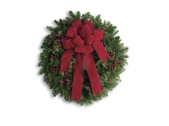 Classic Holiday Wreath (T129-1A)