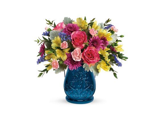 Teleflora's Burst Of Blue Bouquet (T19E205A)