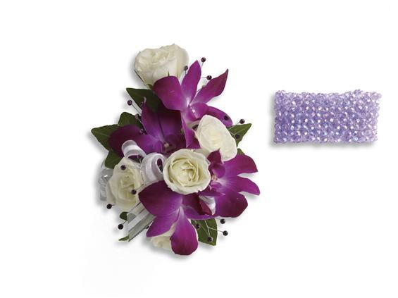 Fancy Orchids and Roses Wristlet (T200-2A)