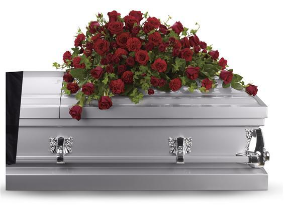 Red Rose Reverence Casket Spray (T225-3A)