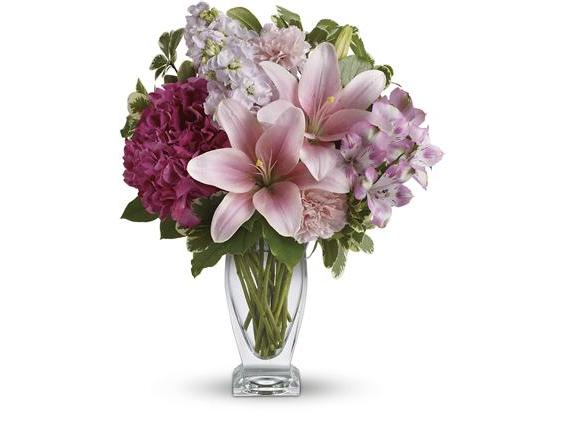 Teleflora's Blush Of Love Bouquet (TEV21-1A)