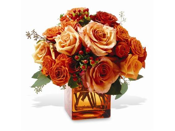 Teleflora's Orange Rose Mosaic (TF-WEB36)