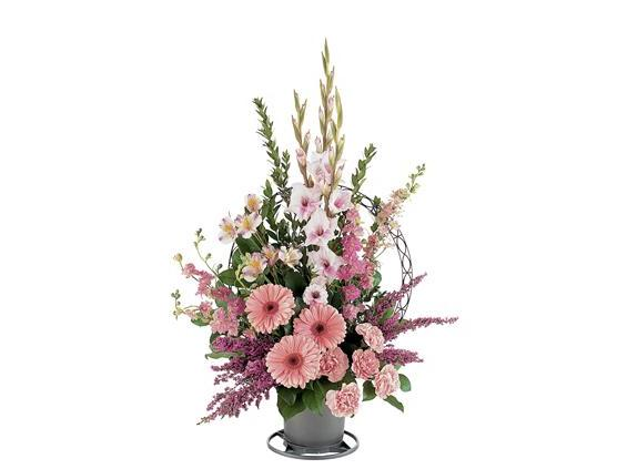 Hopeful Pink Basket (TF187-1)