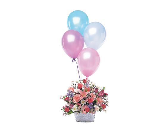 Birthday Balloon Basket