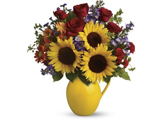 Teleflora's Sunny Day Pitcher of Joy (TFL01-1A)