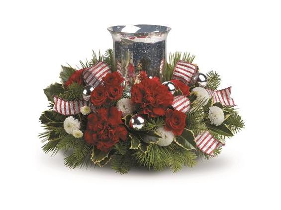 Teleflora's Holly Jolly Centerpiece (TWR10-3A)