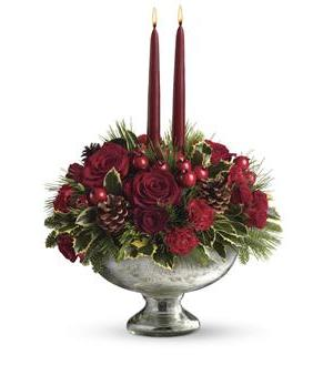 Teleflora's Mercury Glass Bowl Bouquet (T112-1A)