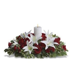 Luminous Lilies Centerpiece (T128-3A)