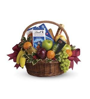 Fruits and Sweets Christmas Basket (T135-2A)