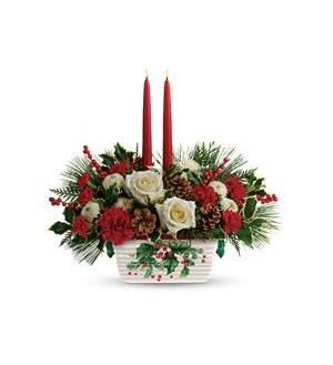 Teleflora's Halls Of Holly Centerpiece (T18X100A)