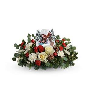 Thomas Kinkade's Christmas Bridge Bouquet (T18X205A)