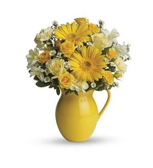 Teleflora's Sunny Day Pitcher of Cheer (T57-1A)