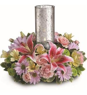 Just Delightful Centerpiece by Teleflora (TEV30-3A)