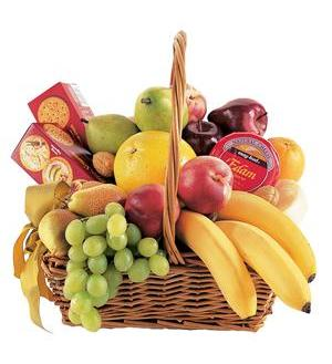 Condolence Fruit Basket (TF191-3)