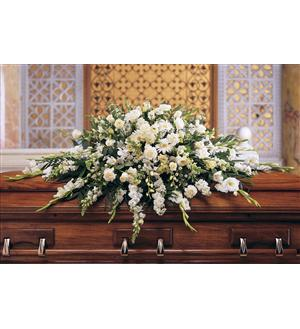 Deluxe Pure White Casket Spray (TF195-3)