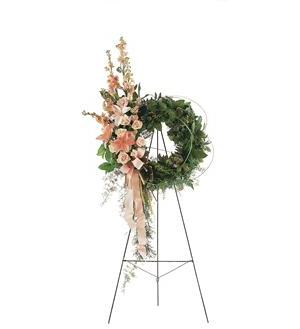 Peach Comfort Wreath (TF196-2)