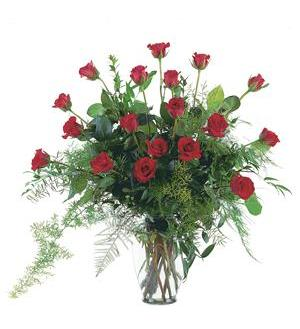 Red Rose Tribute Vase  (TF208-1)