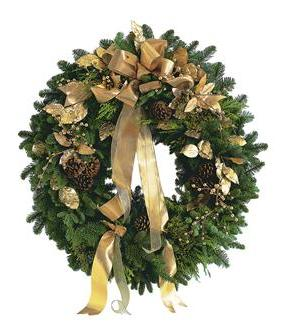 Golden Evergreen Wreath (TF97-1)