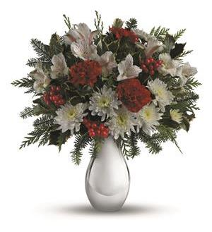 Teleflora's Silver And Snowflakes Bouquet (TWR08-3A)
