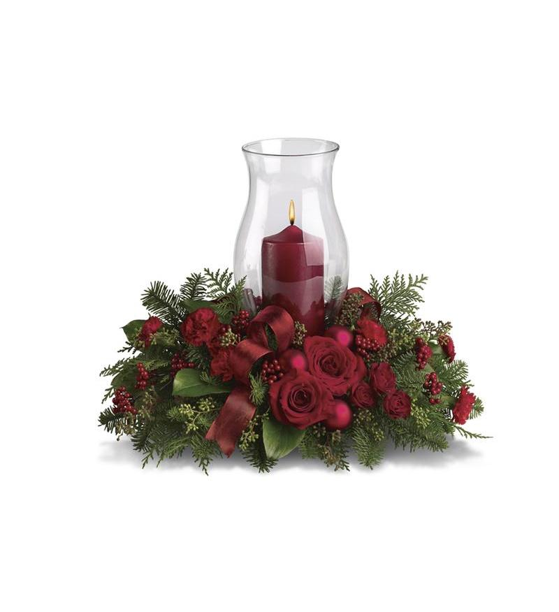 Holiday glow centerpiece t a