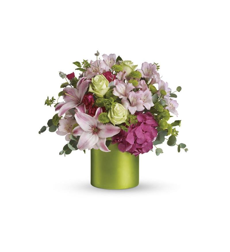 flower vase green with Fancy Flowers By Teleflora on Pink Lily Bouquet as well Watch additionally Matisse The Joy Of Things likewise Monstera Leaves Tropical Greenery likewise 25 Floating Flowers And Candles Centerpieces.