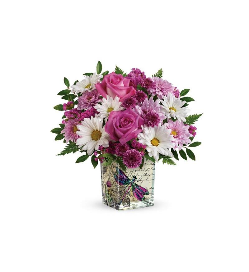 Teleflora\'s Wildflower In Flight Bouquet - T18M400A ($42.26)