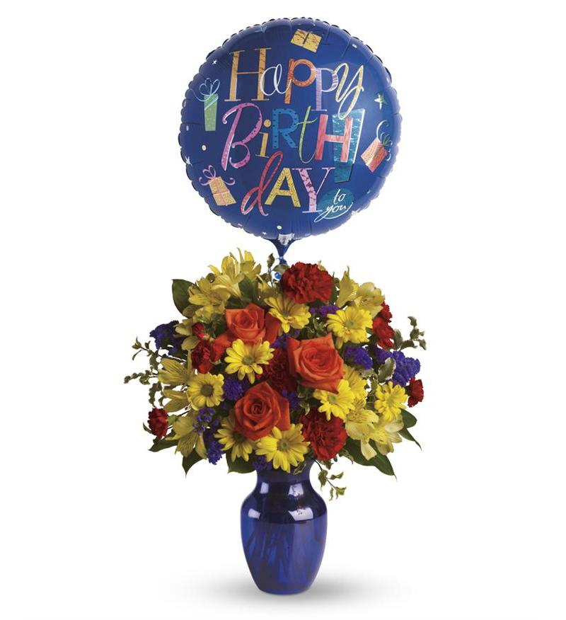 Fly Away Birthday Bouquet - T24-1A ($62.96)