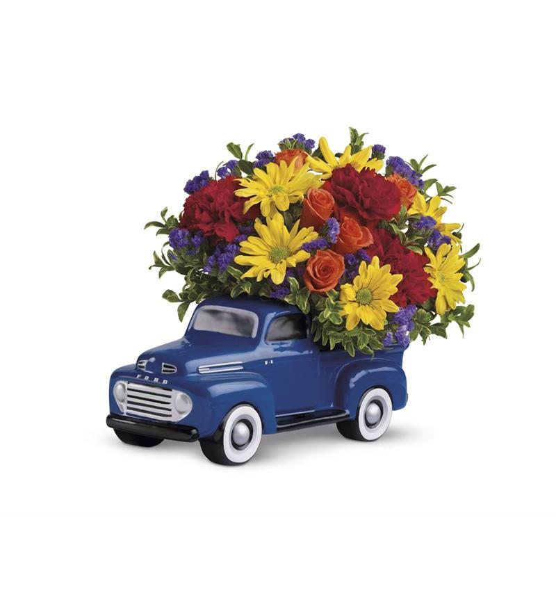 Flowers In A Gift Telefloras 48 Ford Pickup Bouquet T25 1A
