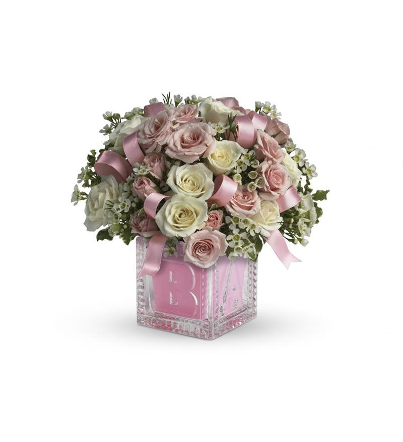 Baby S First Block By Teleflora Pink T37 2a 51 26