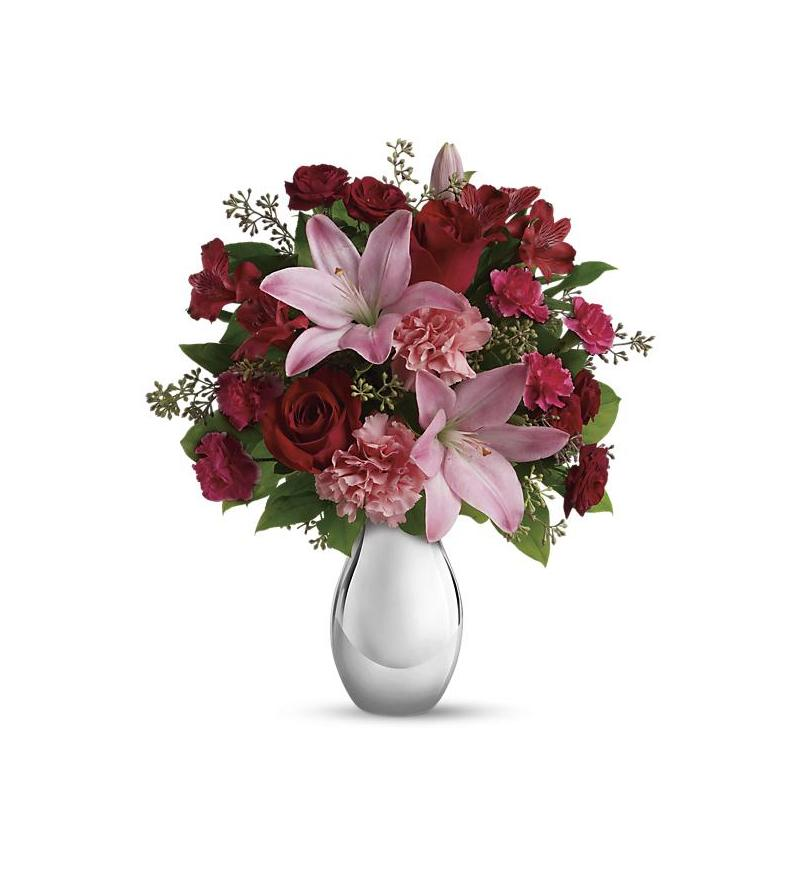 Teleflora S Moonlight Kiss Bouquet T409 1a 55 76