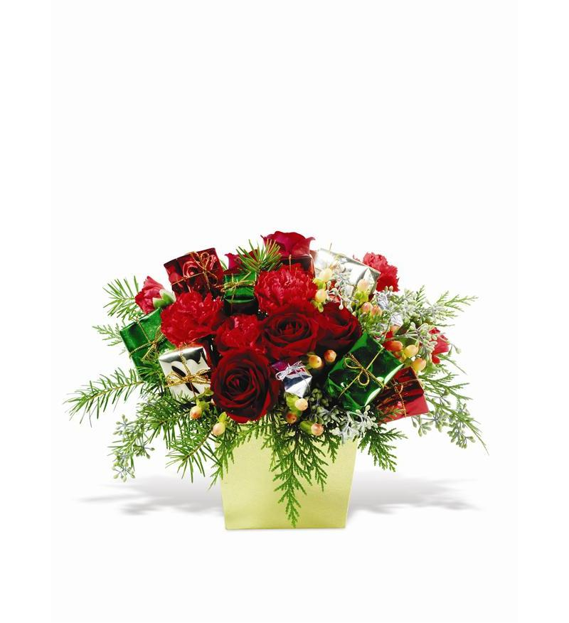 Teleflora Gifts of Christmas Flower Arangement - As Shown