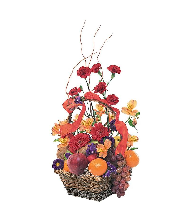 Fruit Flower Baskets Saskatoon : Fruits and flowers basket tf